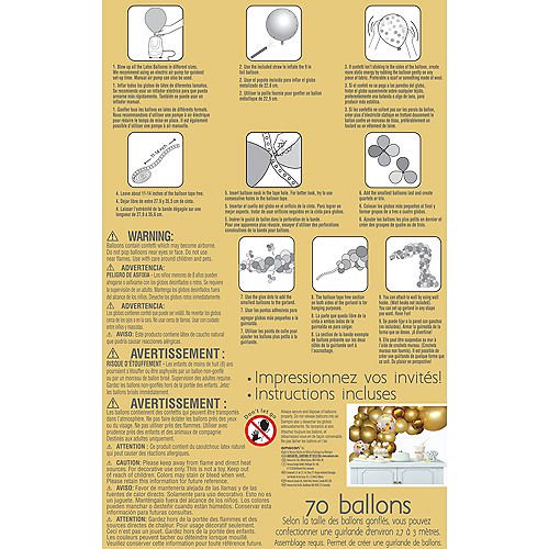 Air-Filled Silver Balloon Garland Kit Image #3