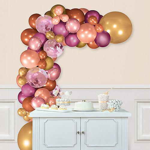 Air-Filled Pink & Gold Balloon Garland Kit Image #1