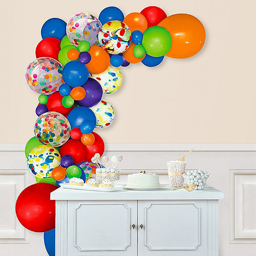 Air-Filled Multicolor Balloon Garland Kit Image #1