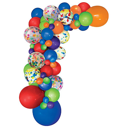Air-Filled Multicolor Balloon Garland Kit Image #2