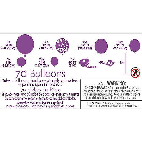 Air-Filled Multicolor Balloon Garland Kit Image #4
