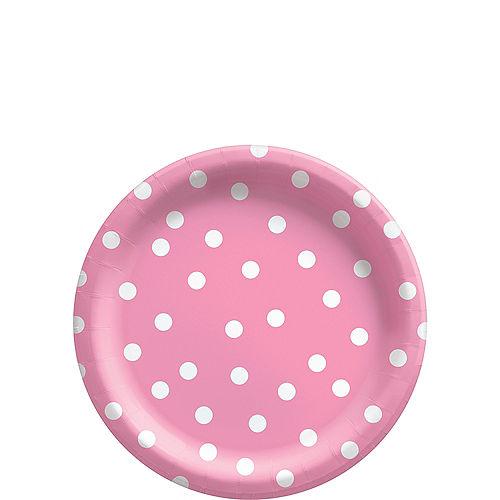 Pink Confetti Dot Dessert Plates, 7in, 8ct Image #1