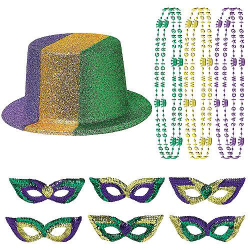 Mardi Gras Party Kit 24pc Image #1