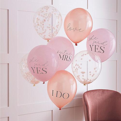 Ginger Ray Slogan & Confetti Balloons 8ct Image #1