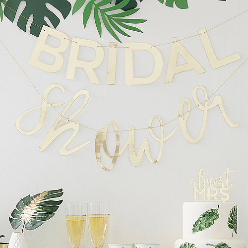 Ginger Ray Metallic Gold Bridal Shower Letter Banners 2pc Image #1