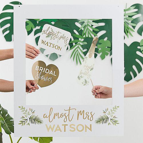 Ginger Ray Customizable Metallic Gold & Greenery Photo Booth Frame Kit Image #1