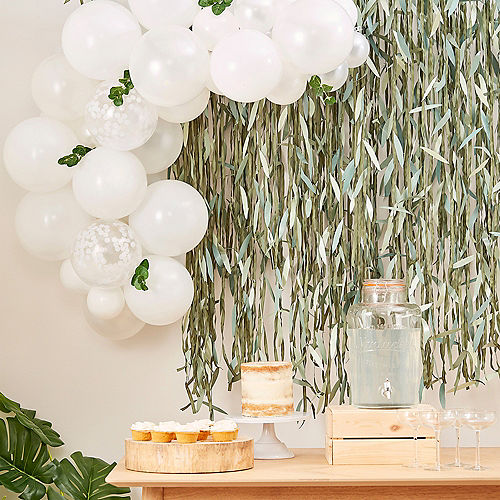 Air-Filled Ginger Ray Mini White Balloon Arch Kit Image #1