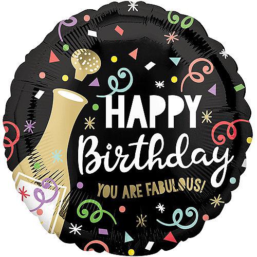 Bubbly Happy Birthday Balloon, 18in Image #1