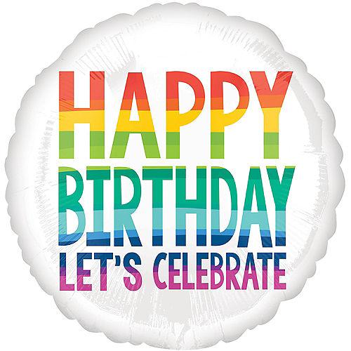 Rainbow Wish Happy Birthday Balloon, 18in Image #1