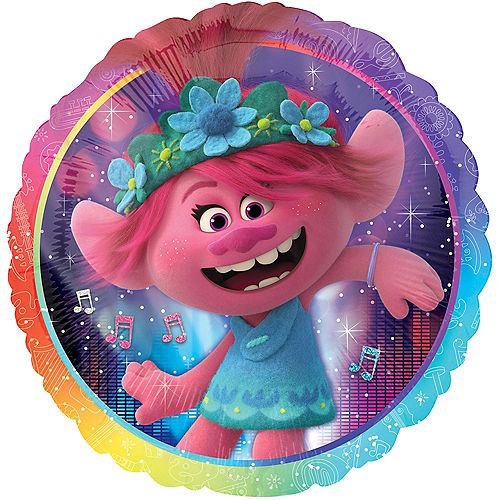 Poppy Balloon, 18in - Trolls World Tour Image #1