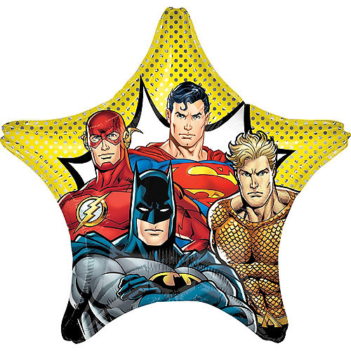 Giant Comic Justice League Star Balloon, 28in Image #1