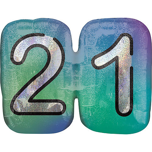 Prismatic Finally 21 Birthday Balloon, 27in Image #1