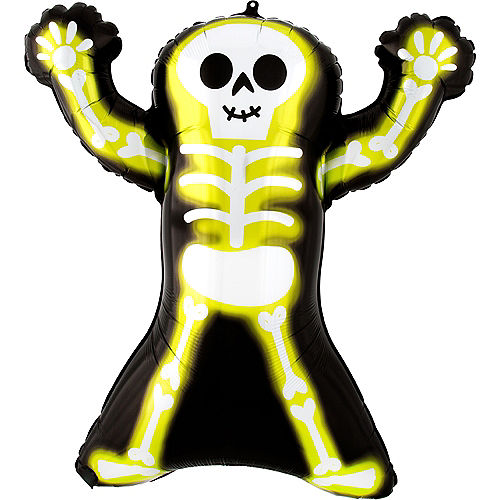 Neon Skelly Foil Balloon, 30in Image #1