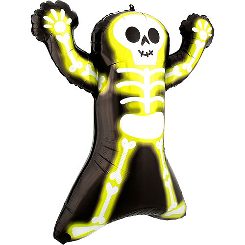 Neon Skelly Foil Balloon, 30in Image #2