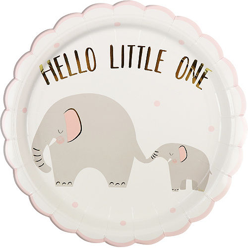 Pink Little Peanut Scalloped Lunch Plates, 9in, 8ct Image #1