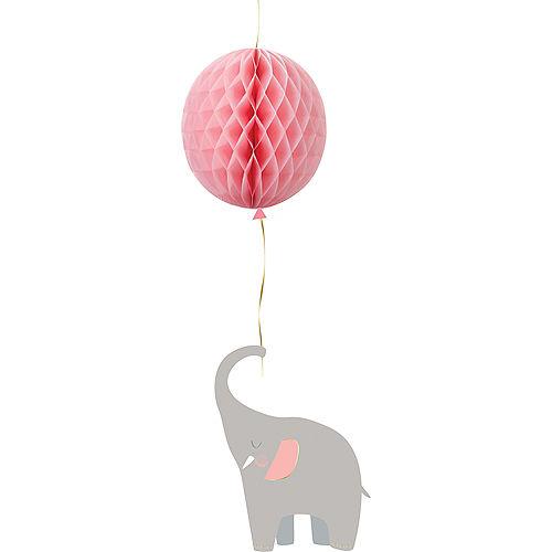 Pink Little Peanut Balloon Honeycomb Decoration Image #1