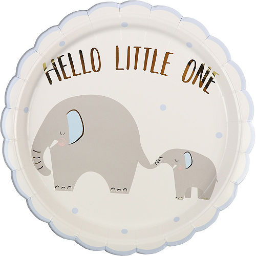 Blue Little Peanut Scalloped Lunch Plates, 9in, 8ct Image #1