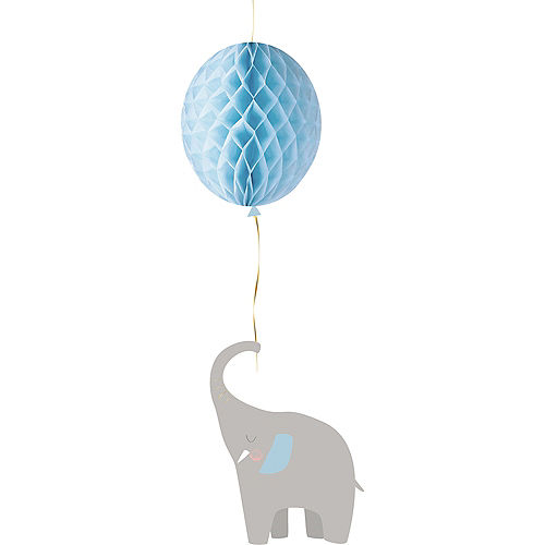 Blue Little Peanut Balloon Honeycomb Decoration Image #1