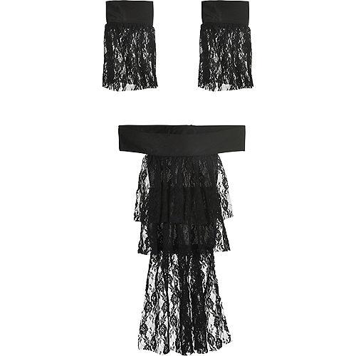 Black Lace Vampire Jabot & Cuffs Image #1