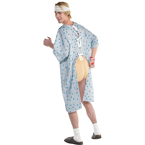 Adult Open Gown Patient Costume Image #1