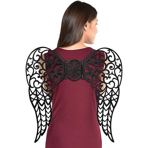 Iron Gate Filigree Dark Angel Wings Image #1