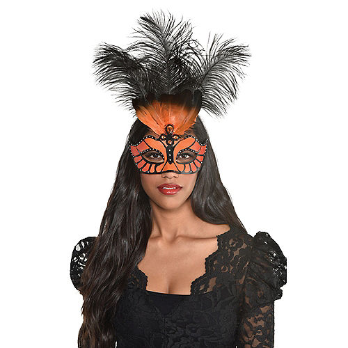 Monarch Butterfly Masquerade Mask Image #1