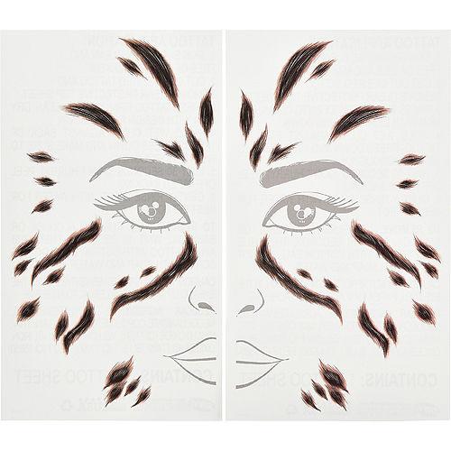 Cheetah Face Tattoos 2 Sheets - Wonder Woman 1984 Image #1