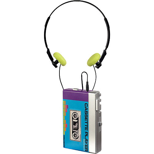 80s Faux Cassette Player with Headphones Image #1