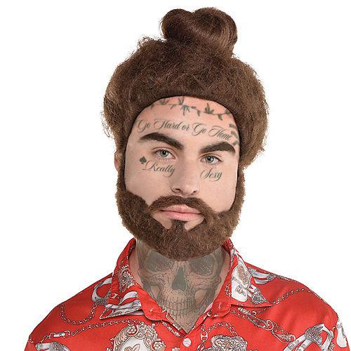 Music Cloud Rapper Wig & Beard Set Image #1