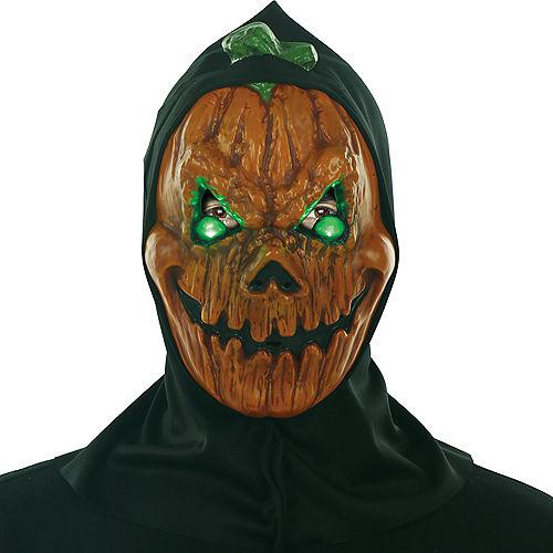 Light-Up Evil Eyes Jack-o'-Lantern Face Mask Image #1