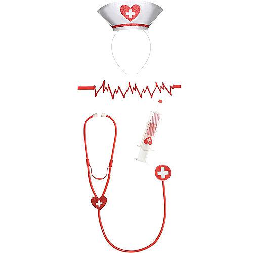 Adult Flat Line Nurse Costume Accessory Kit Image #2