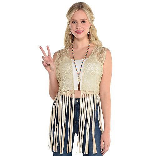 Adult Hippie Chic Vest Image #1