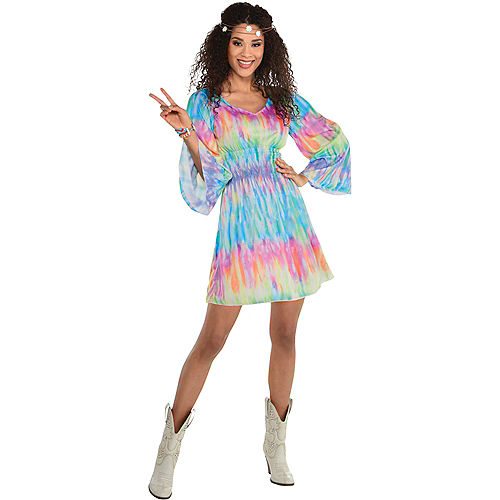 Adult Festival Chic Tie Dye Dress Image #1