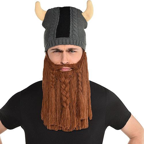 Viking Helmet Beanie with Beard Image #1