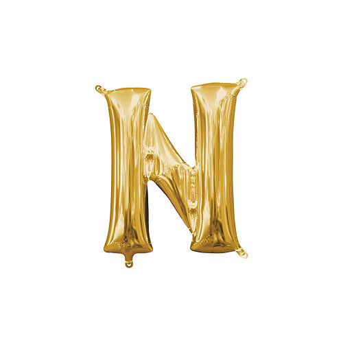 13in Air-Filled Gold Girl Gang Letter Balloon Kit Image #6