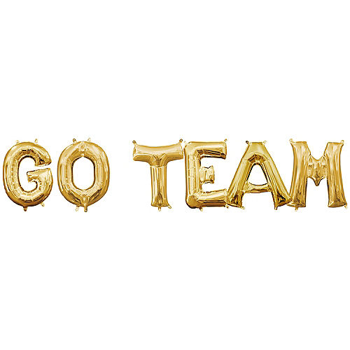 Air-Filled Gold Go Team Balloon Kit Image #1