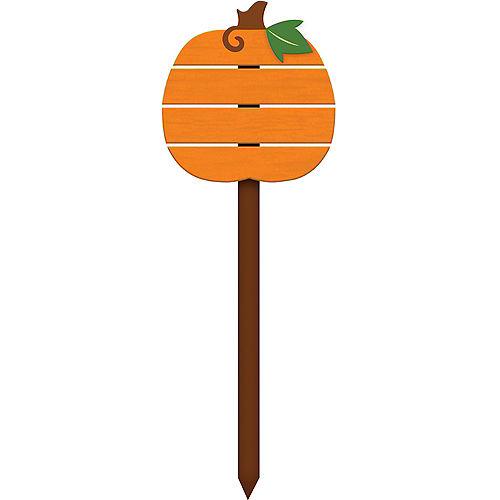 Slatted Pumpkin Yard Stake Image #1