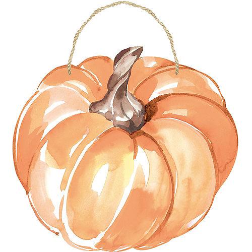 Watercolor Pumpkin Sign Image #1