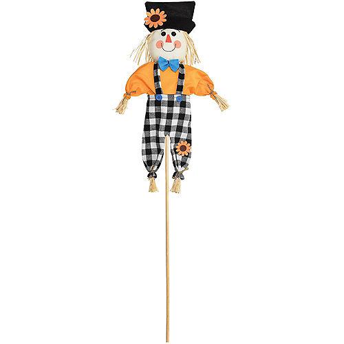Cheerful Scarecrow Yard Stake Image #1