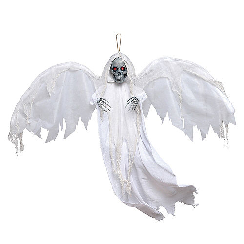 Light-Up White Winged Reaper Decoration Image #1