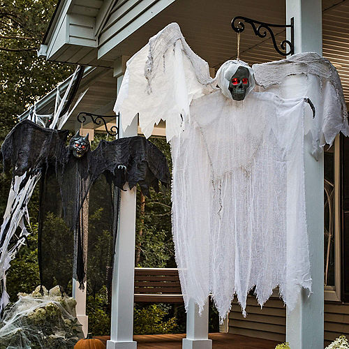 Light-Up White Winged Reaper Decoration Image #2