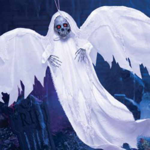 Light-Up White Winged Reaper Decoration Image #3
