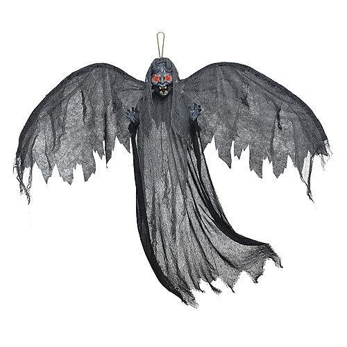 Light-Up Gray Winged Gargoyle Decoration Image #1