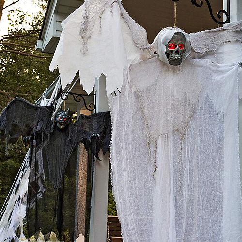 Light-Up Gray Winged Gargoyle Decoration Image #2