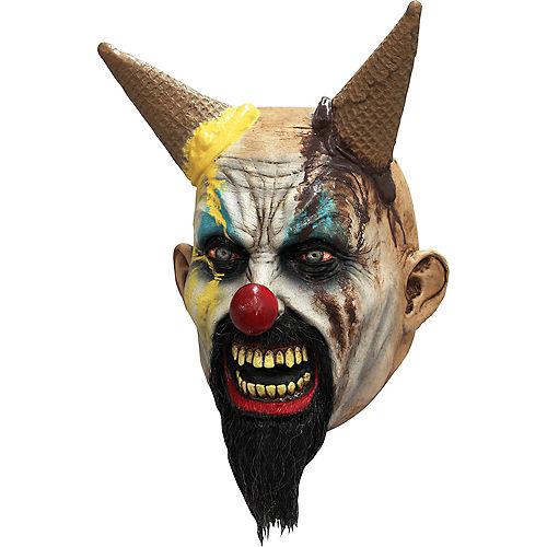 Hells-Cream Clown Face Mask Image #1