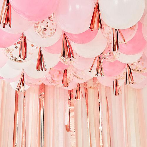 Ginger Ray Blush, White & Metallic Rose Gold Balloon Ceiling Image #1