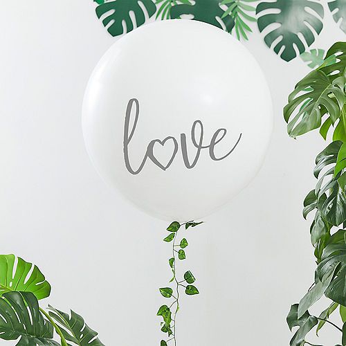 Ginger Ray Giant White Love Balloon, 36in Image #1