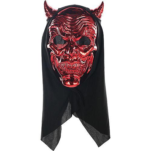 Metallic Red Devil Face Mask Image #1