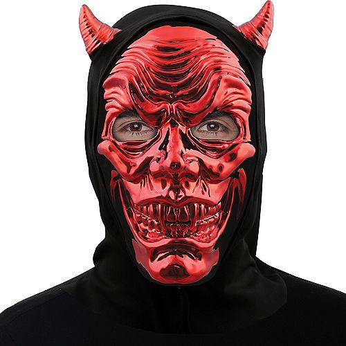 Metallic Red Devil Face Mask Image #2
