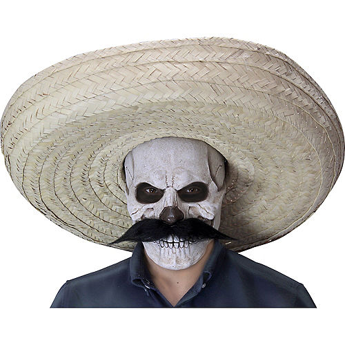Undead Hombre Skull Mask with Sombrero Image #1